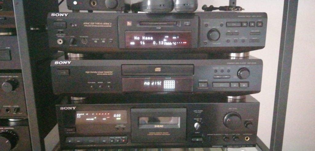 Sony MDS-JE640 & CDP-XE220 & TC-KE415